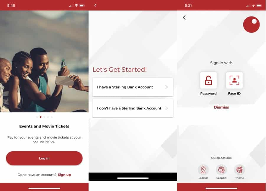 Sterling bank app features