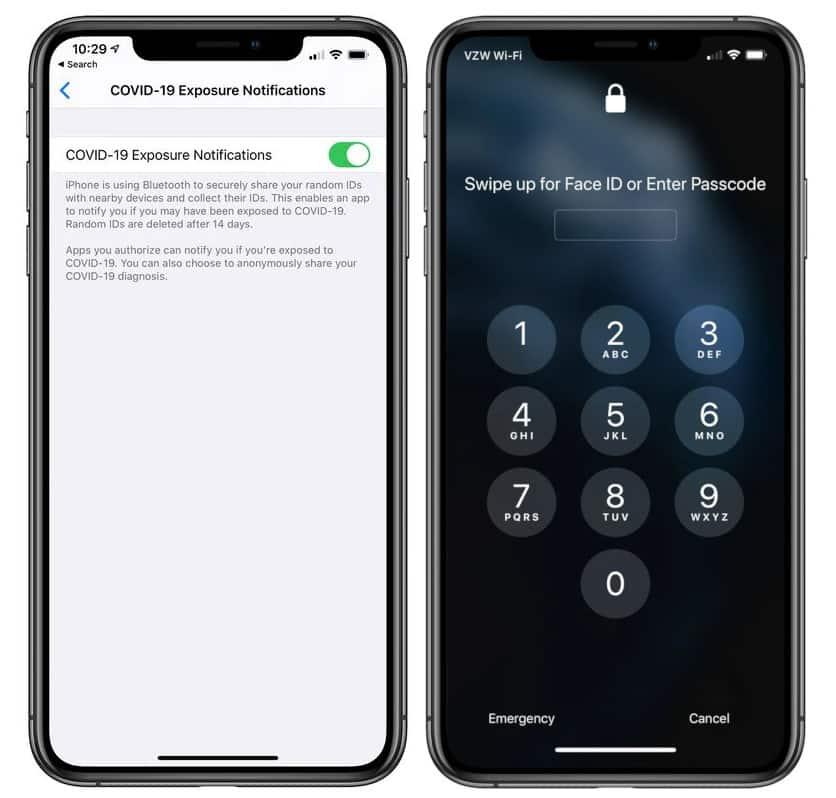 apple exposure Notification API