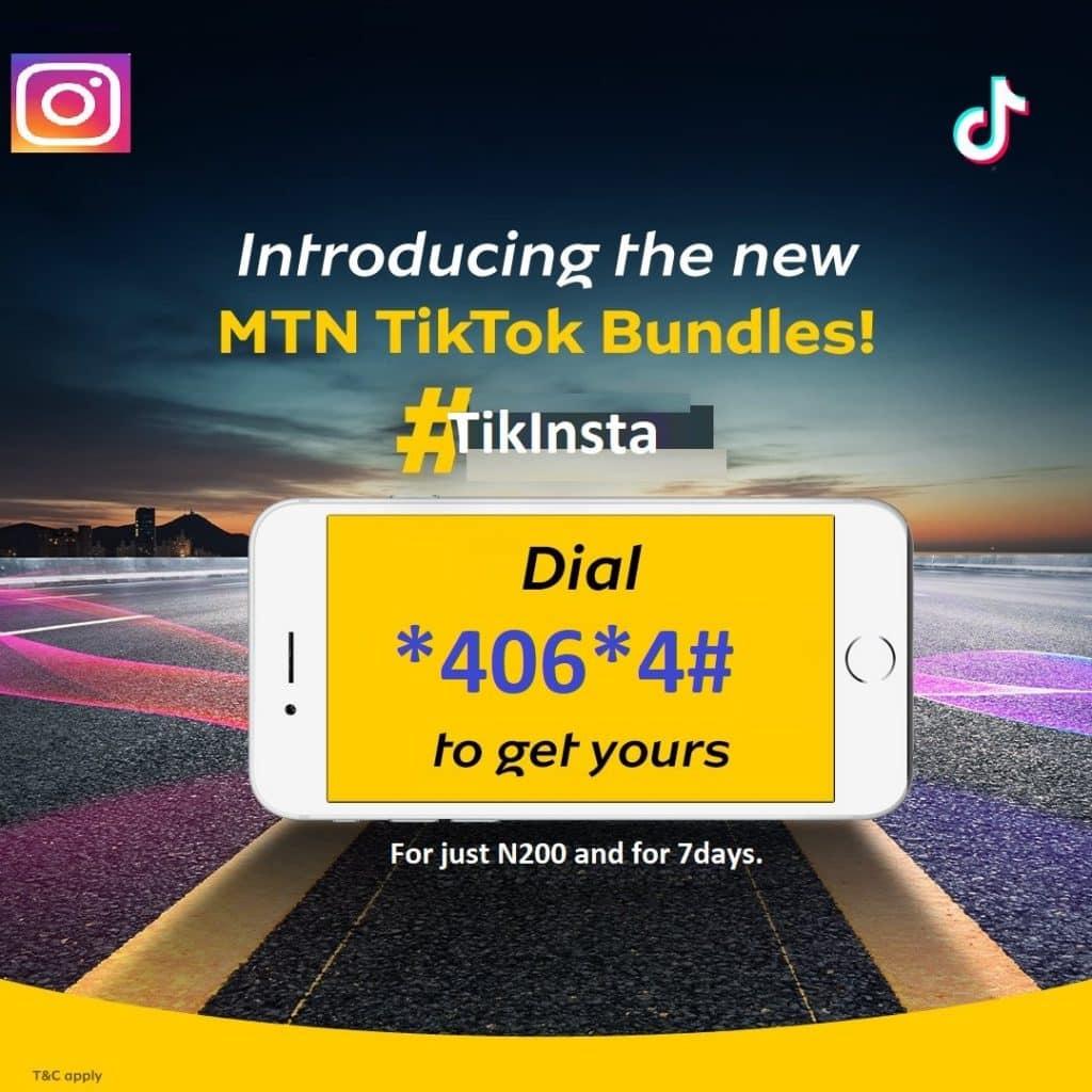 MTN TikTok and Instagram 1GB for N200