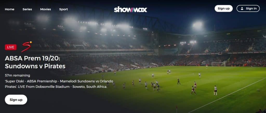 Showmax PRO live sports