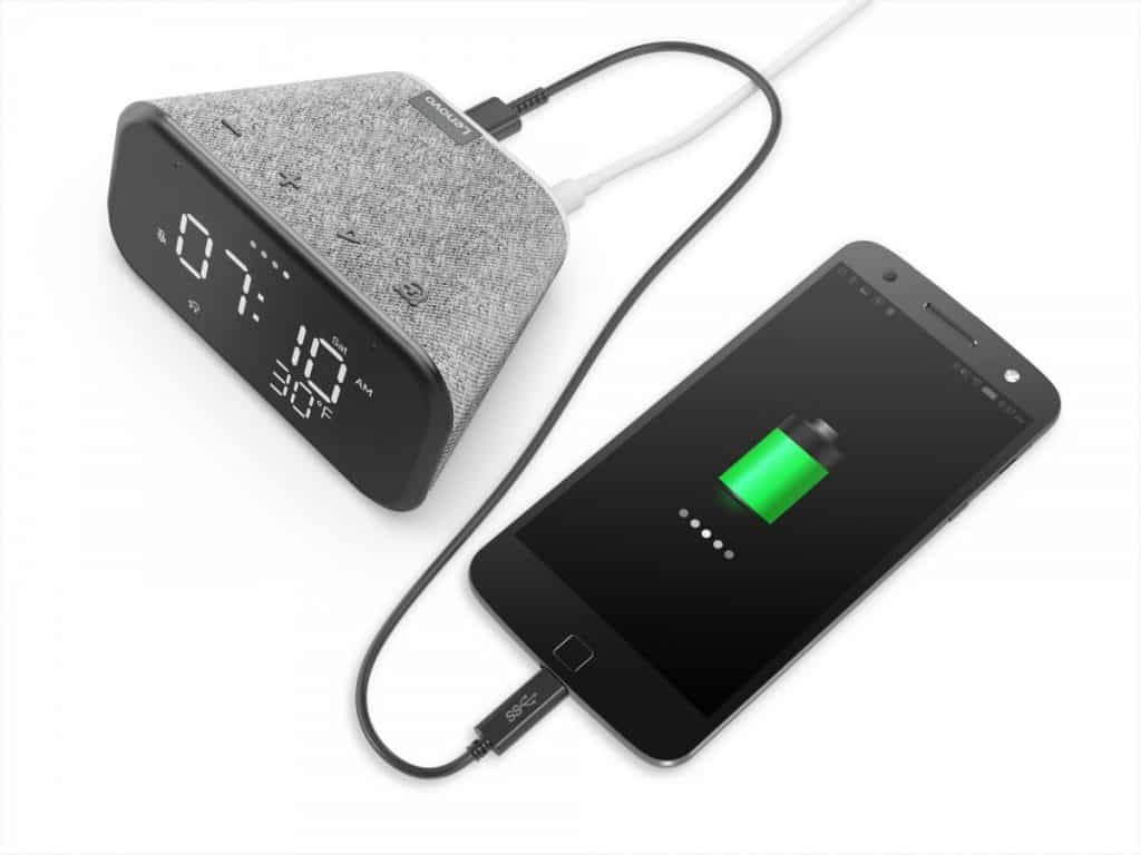 Lenovo Smart Clock Essential with USB port for charging