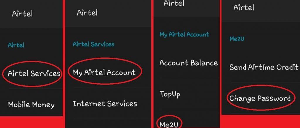 How to change Airtel me2u transfer pin