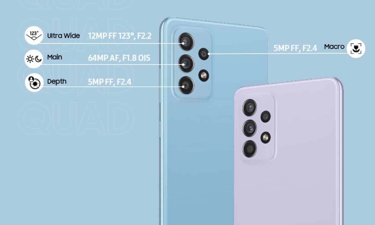 Samsung Galaxy A52 and A52 5G camera