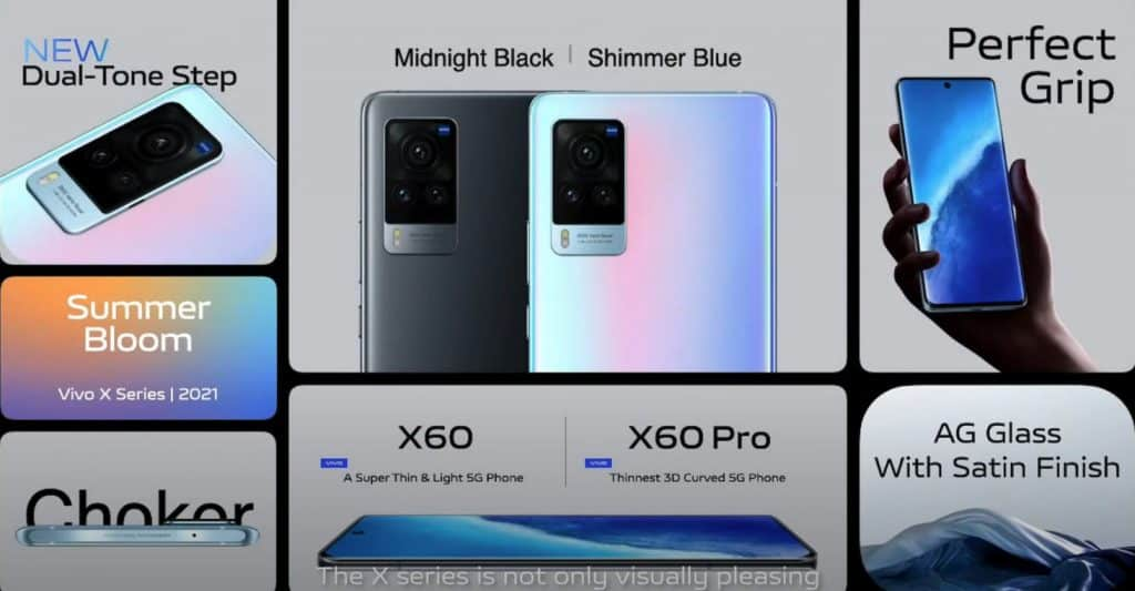 Vivo X60 series global features