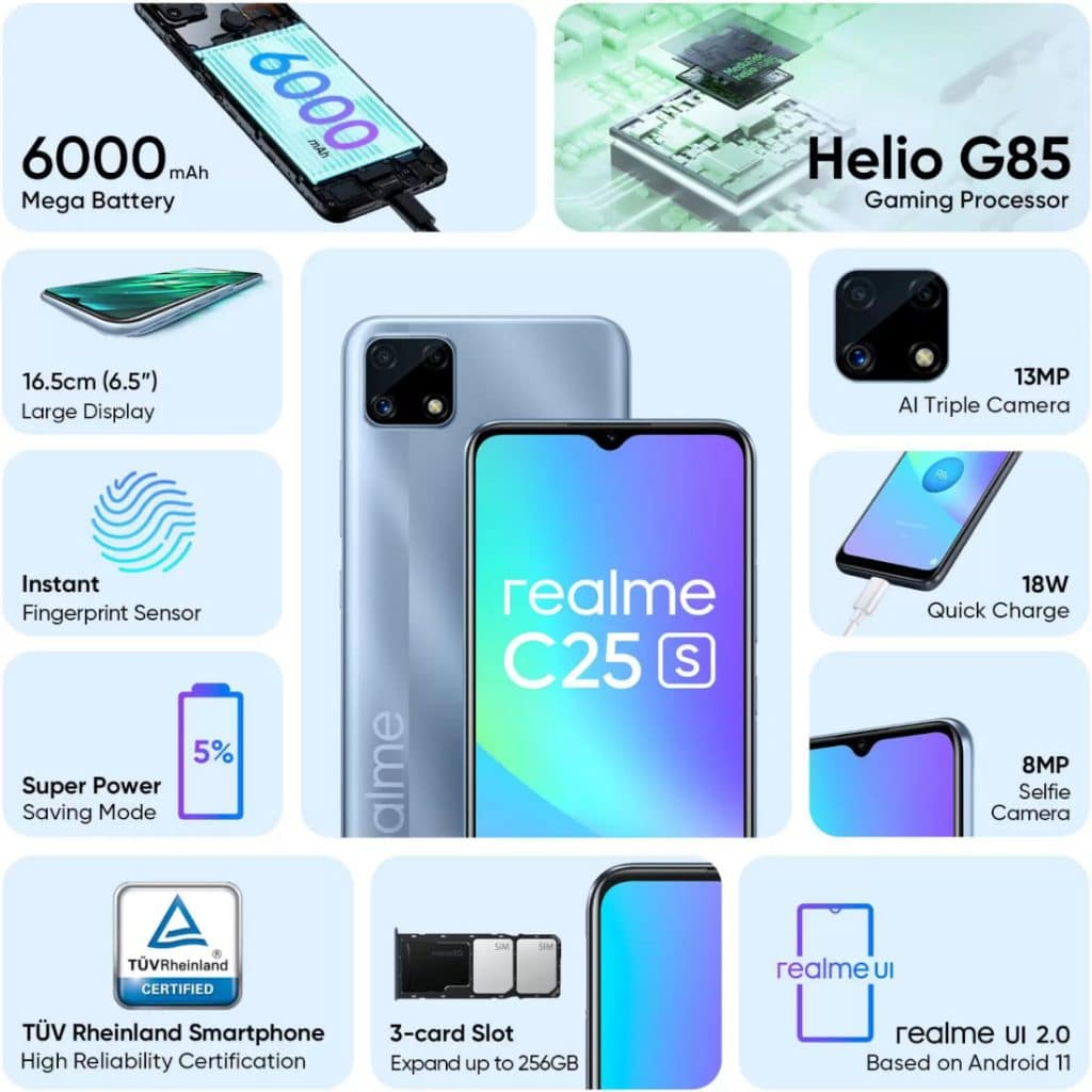 Realme C25s specifications