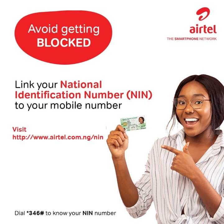 how to link nin to airtel