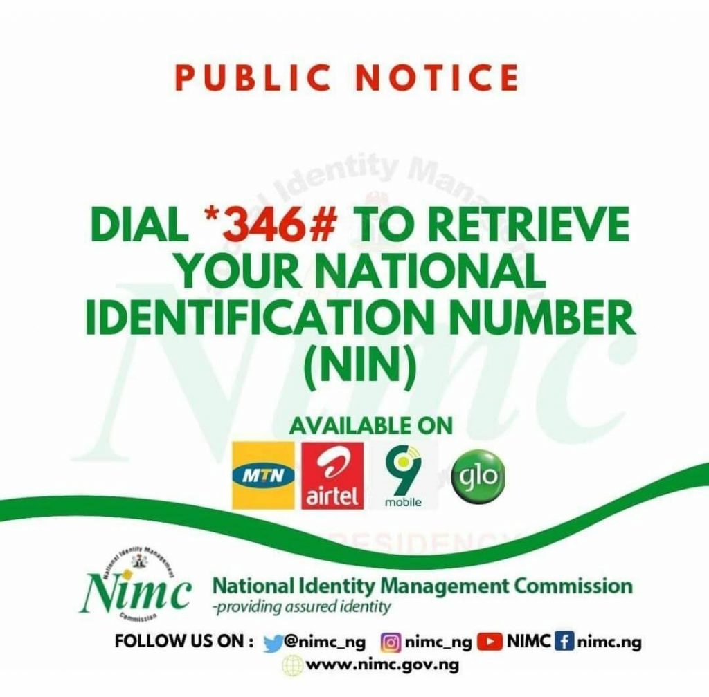 how to retrieve NIN number