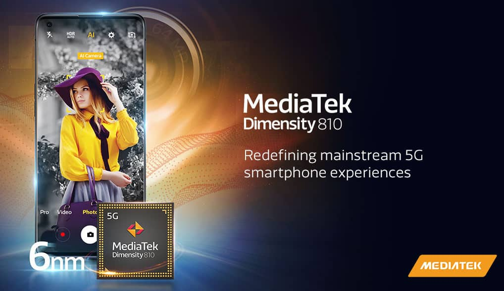 MediaTek Dimensity 810 chips