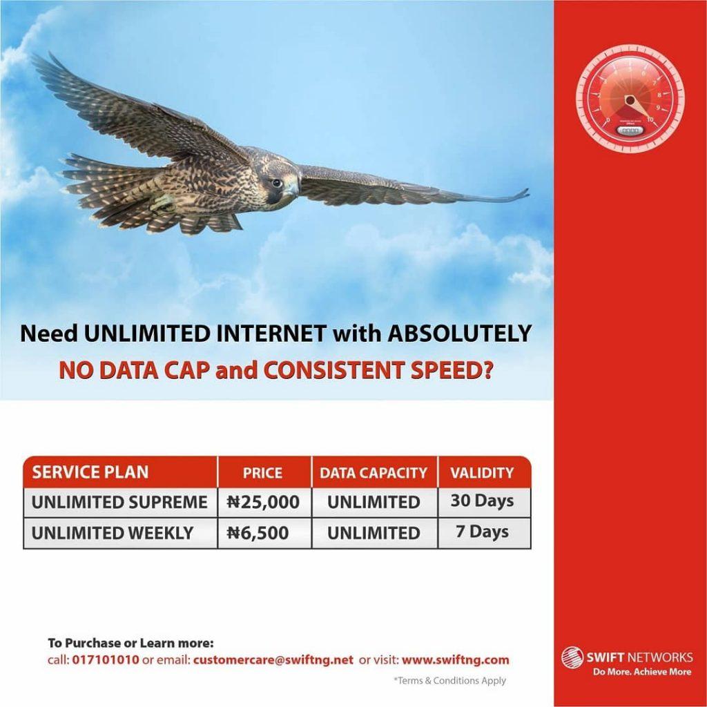 Swift unlimited data plan