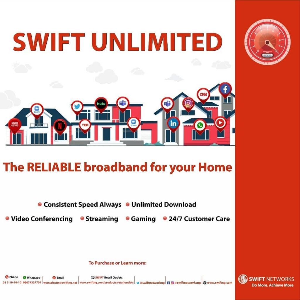 Swift unlimited data plans