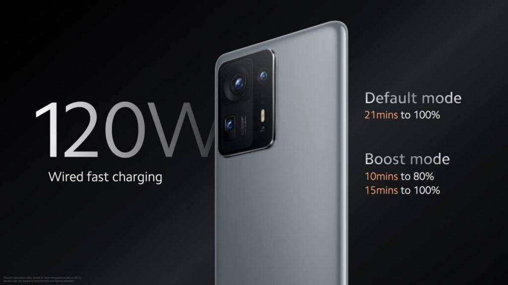 Xiaomi Mi MIX 4 120W fast charging