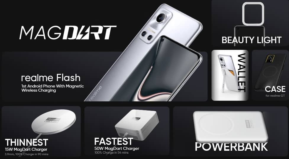 realme concept flash phone and MagDart accessories