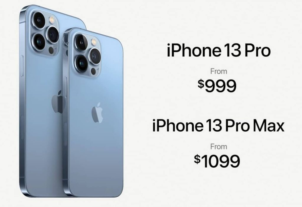 Apple iPhone 13 Pro and iPhone 13 Pro Max Prices