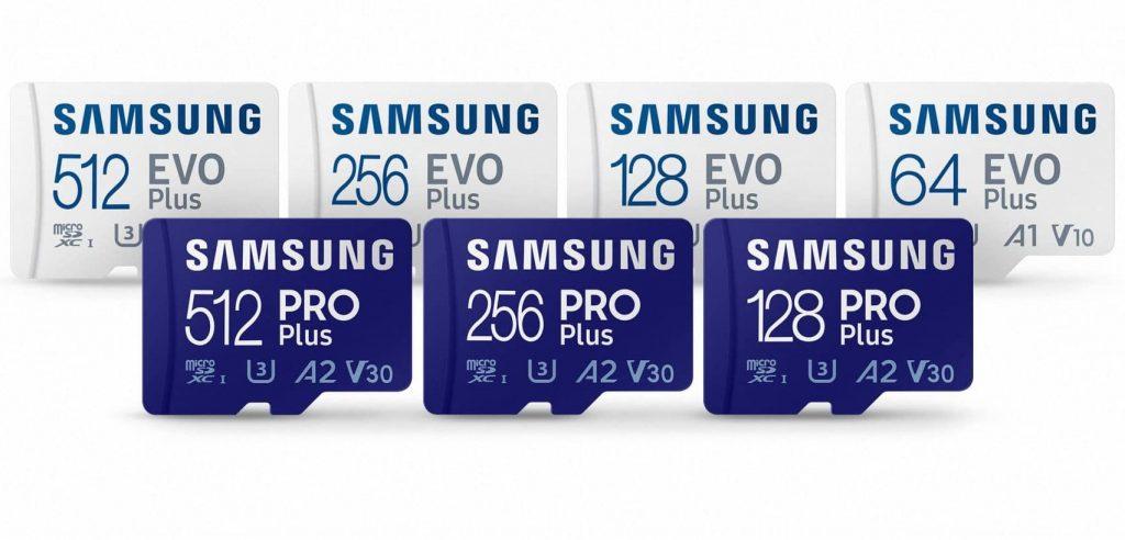 Samsung EVO Plus and Samsung PRO Plus SD cards