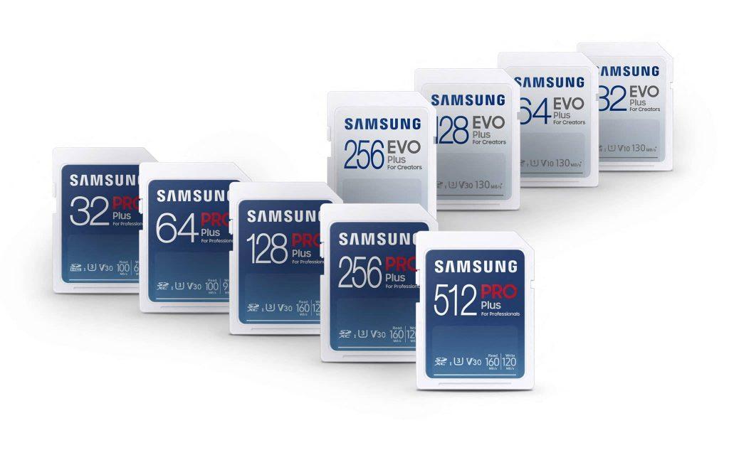Samsung EVO Plus and Samsung PRO Plus cards