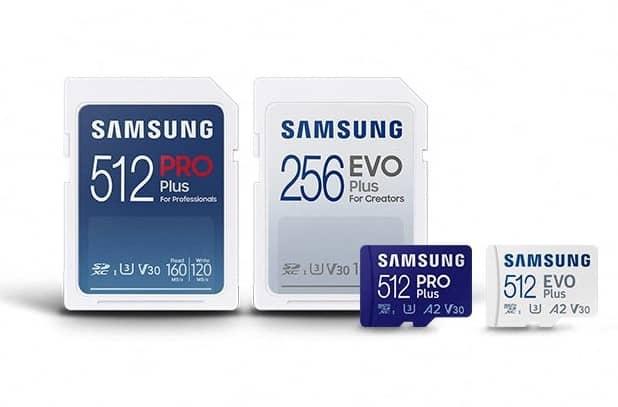 Samsung EVO Plus and Samsung PRO Plus microSD cards