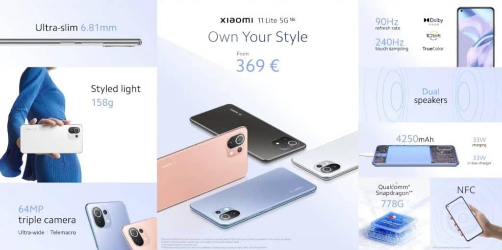 Xiaomi 11 Lite NE 5G Specs